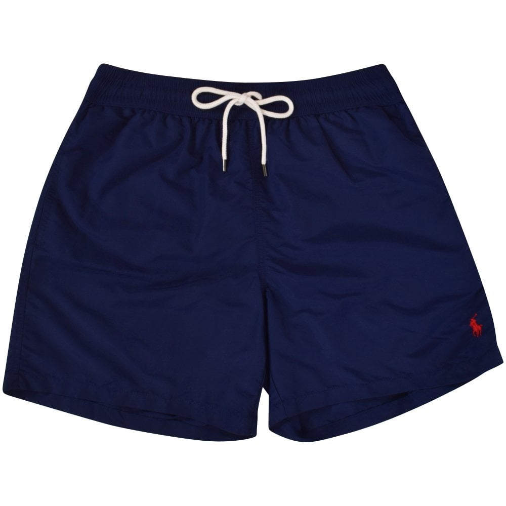 83f3a94c04 POLO RALPH LAUREN Navy Logo Swim Trunks - Shorts & Swimwear from  Brother2Brother UK