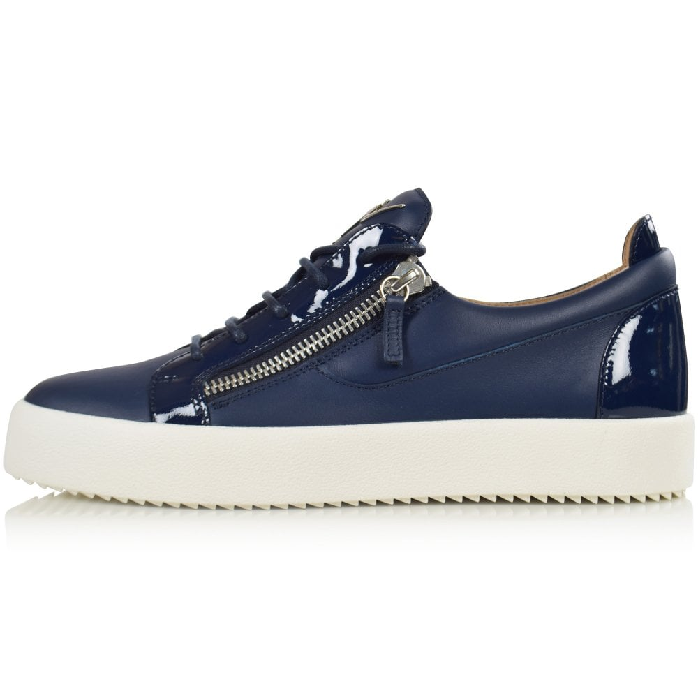 GIUSEPPE ZANOTTI Navy Low-Top Trainers - Men from Brother2Brother UK 9e32c6b985f4