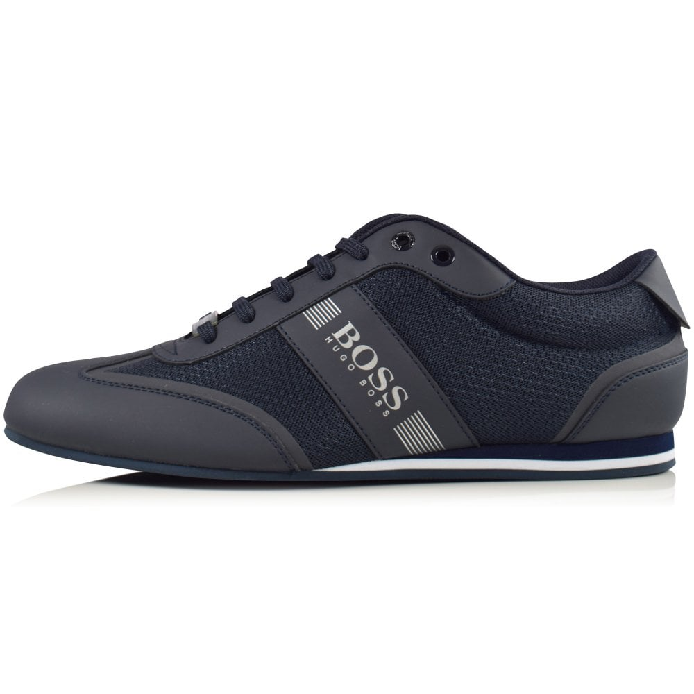 BOSS Navy Mesh Low Trainers - Footwear