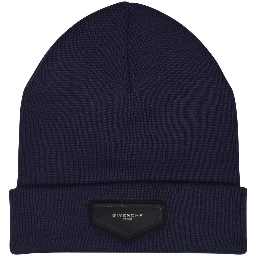 ... incredible prices GIVENCHY Navy Plaque Logo Beanie Hat - Men from  Brother2Brother UK 57b3f 5e563 ... cd97b1b5135a