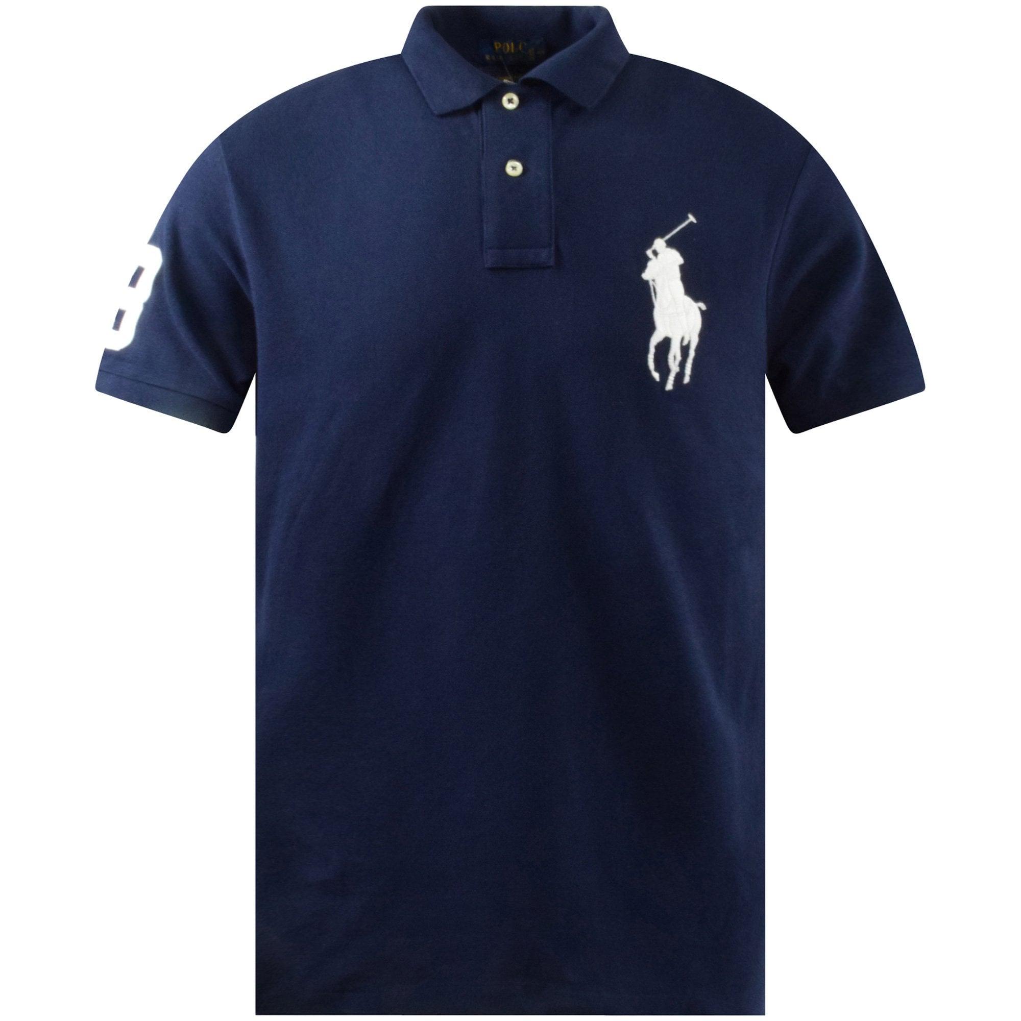 POLO RALPH LAUREN Navy Slim Big Pony Polo Shirt