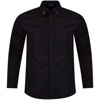 Neil Barrett Black Bolt Collar Shirt