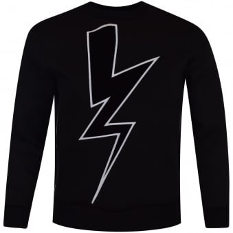 Neil Barrett Black Lightning Side Zip Sweatshirt