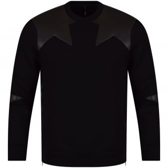 Neil Barrett Black Star Side Zip Sweatshirt