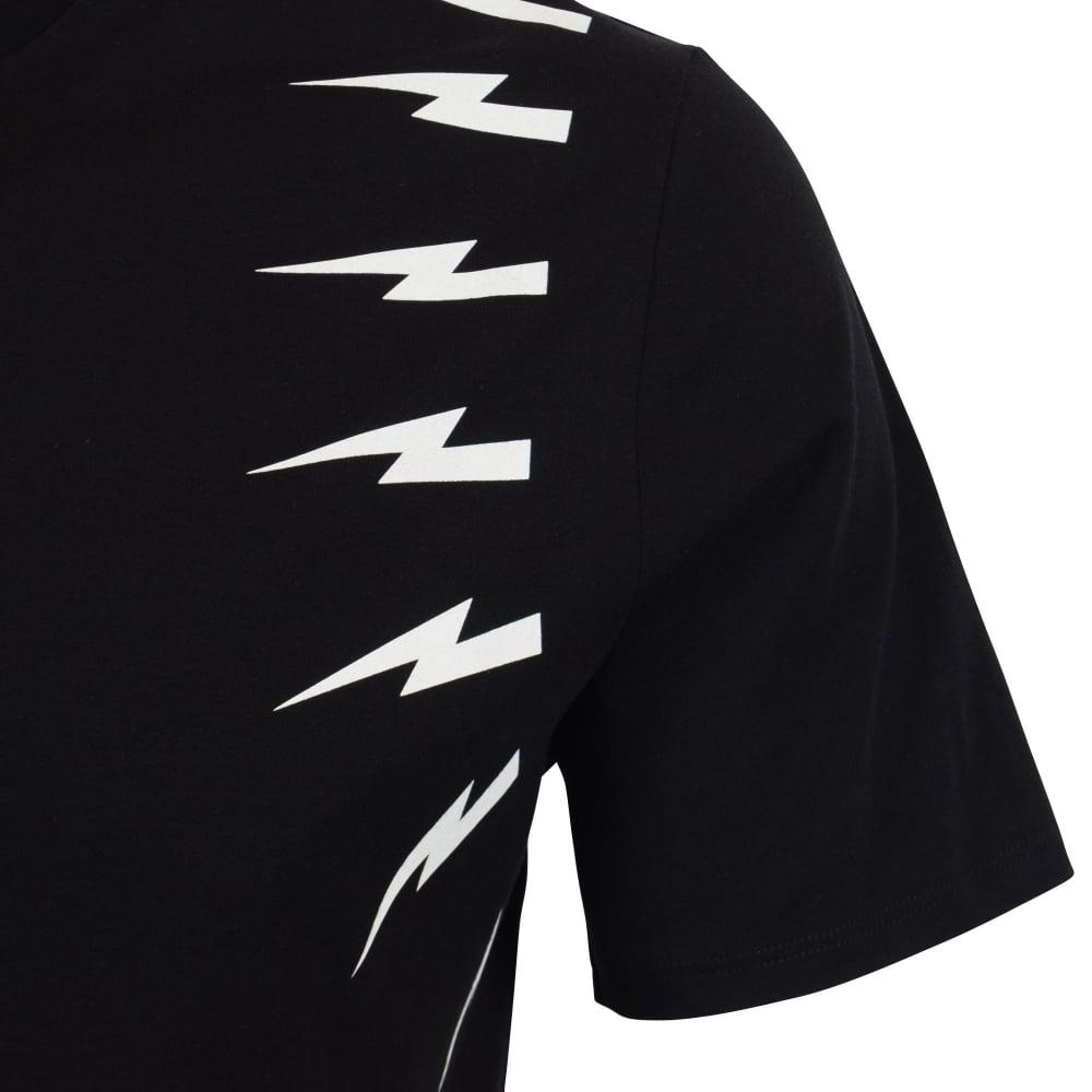 a88b88631 NEIL BARRETT Neil Barrett Black Thunderbolt T-Shirt - Department ...