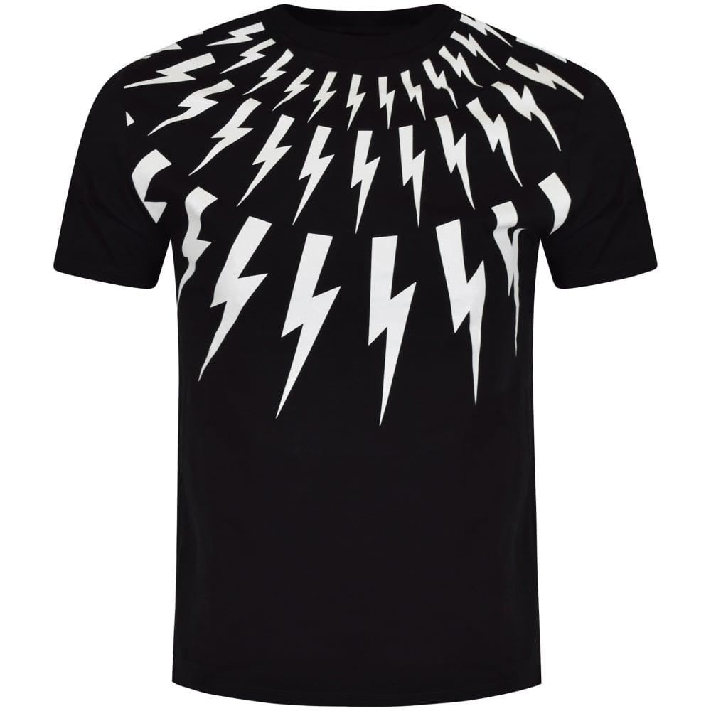 Neil Barrett Neil Barrett Black Amp White Bolt T Shirt Men