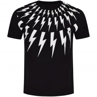 Neil Barrett Black & White Bolt T-Shirt
