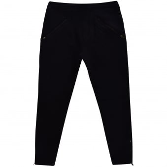 Neil Barrett Black Zip Detailing Jogging Bottoms