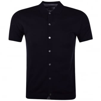 Nigel Hall Navy Button Down Polo Shirt