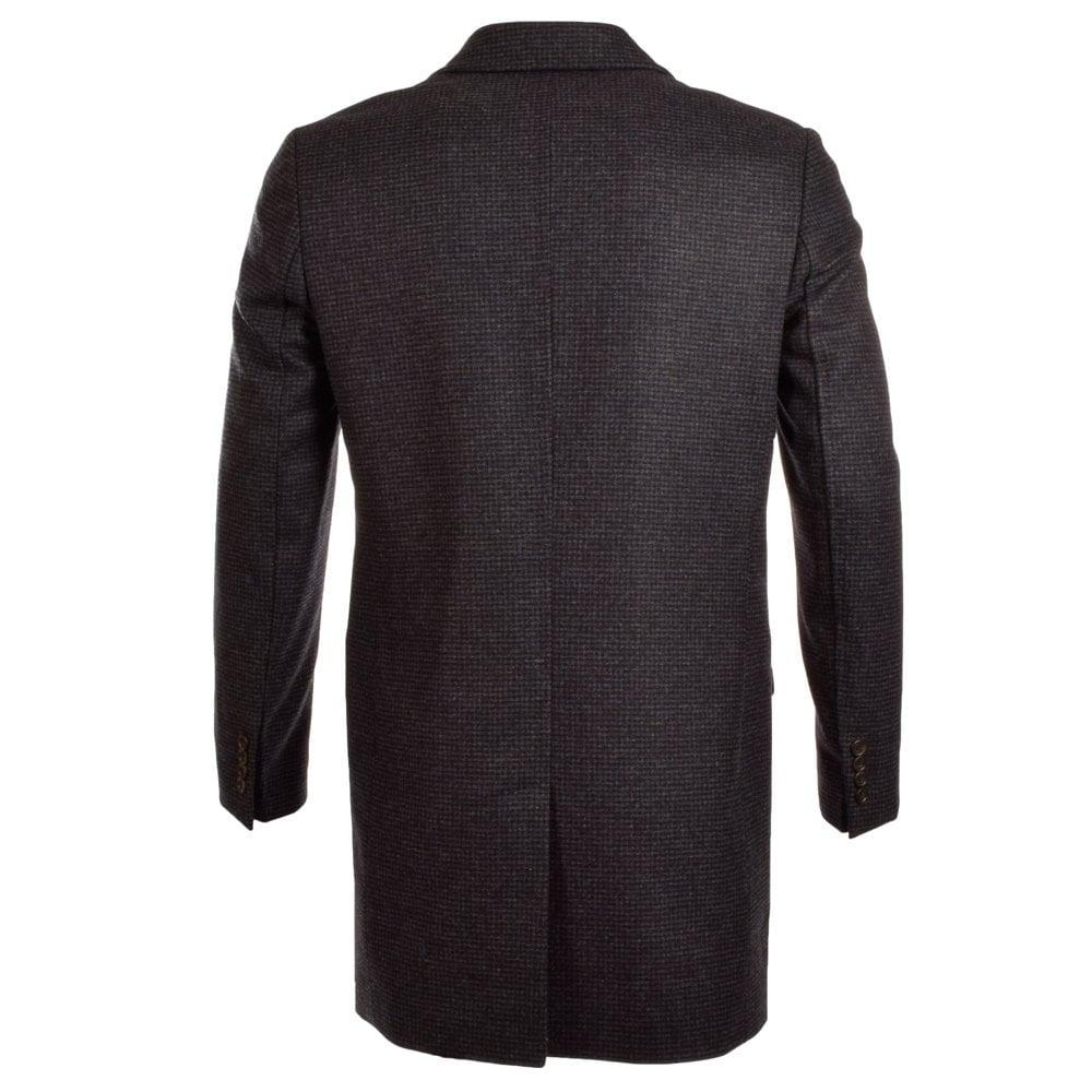 where to buy latest style free shipping NIGEL HALL Nigel Hall Navy/Grey/Black Check Longline Smart Coat