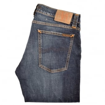 Nudie Jeans Tight Long John Mid Wash Slim Fit Jeans