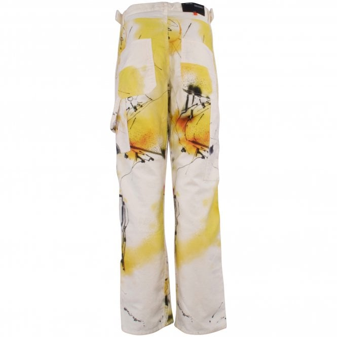 OFF-WHITE Futura Abstract Carpenter Trousers Reverse