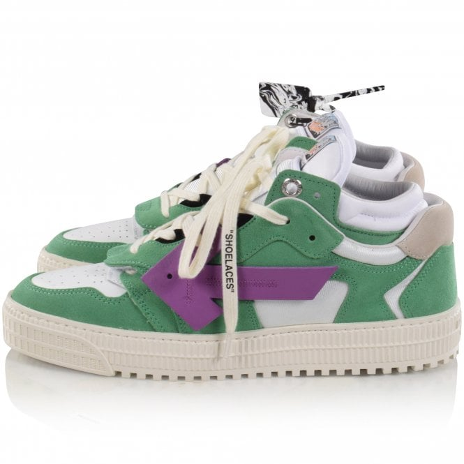 OFF-WHITE Green/Purple Off Court Sneakers Reverse
