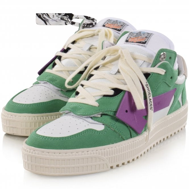 OFF-WHITE Green/Purple Off Court Sneakers Front