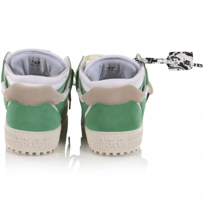 OFF-WHITE Green/Purple Off Court Sneakers Side