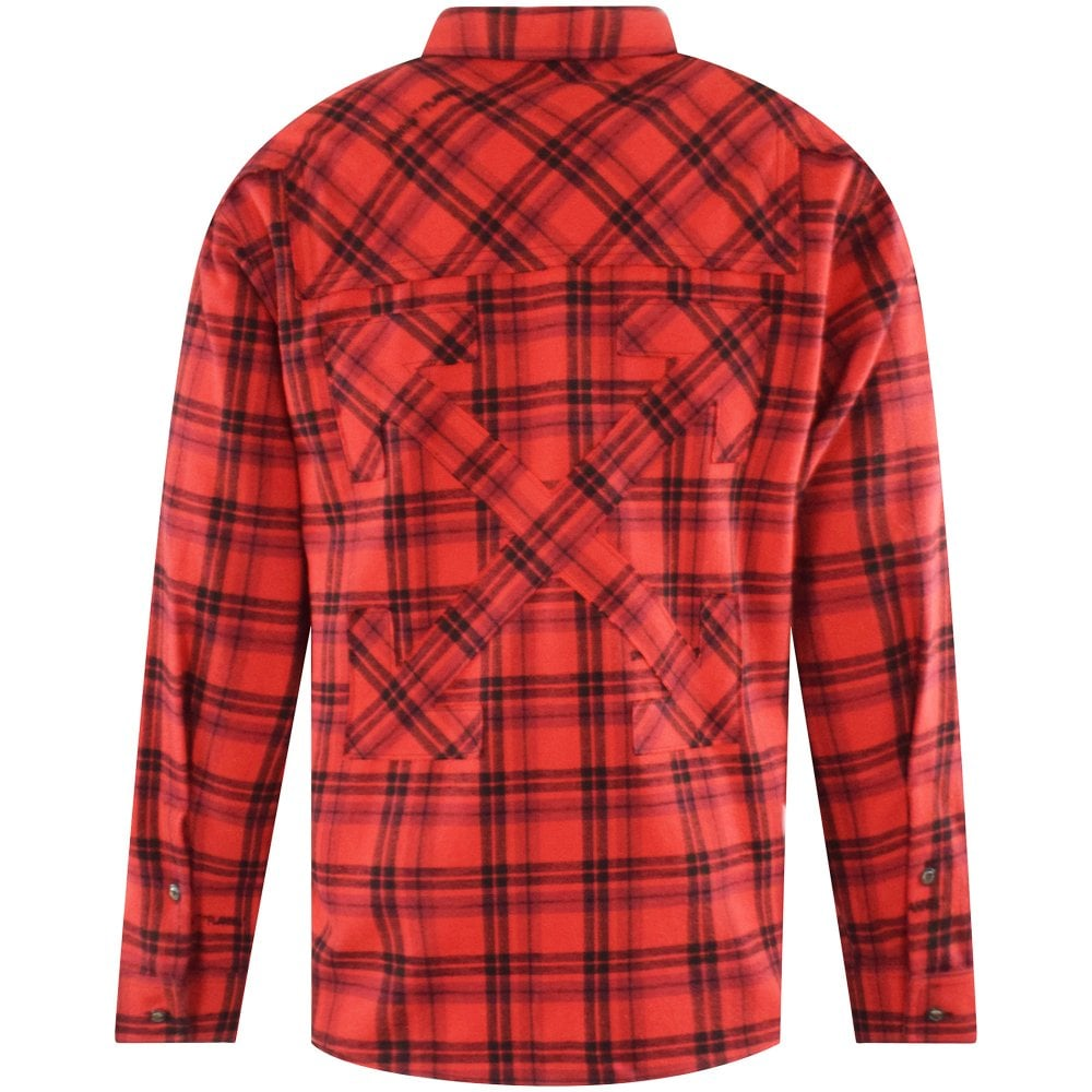 OFF-WHITE Red Flannel Check Shirt Reverse