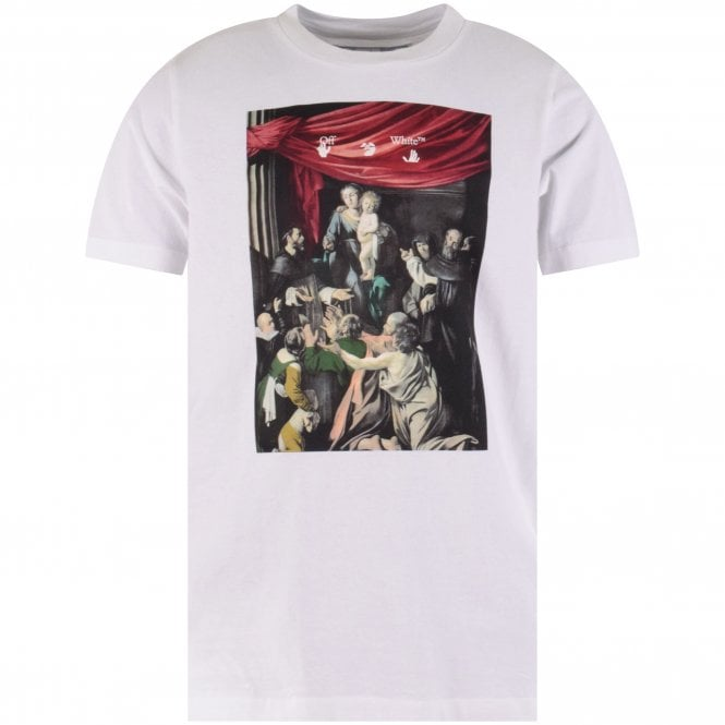 OFF-WHITE White Caravaggio Painting T-Shirt