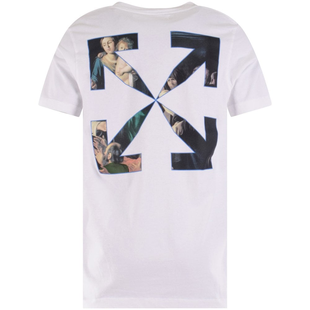 OFF-WHITE White Caravaggio Painting T-Shirt Reverse