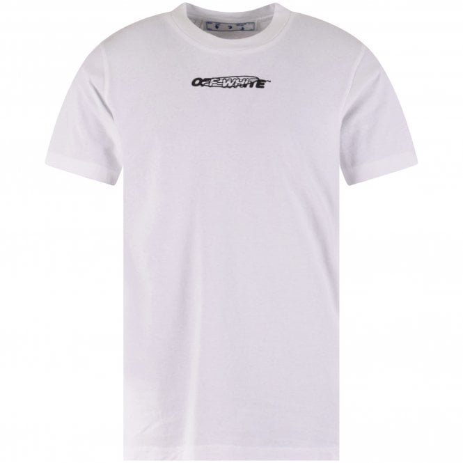 OFF-WHITE White Hand Painters Slim Fit T-Shirt