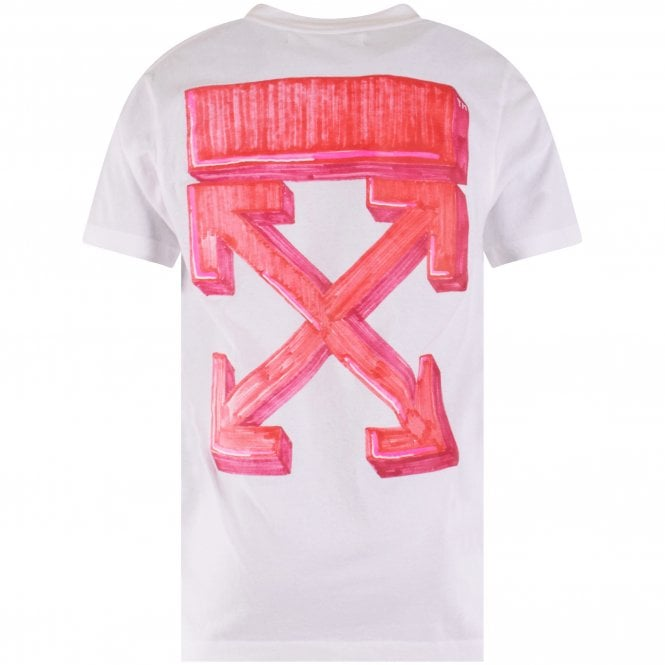 OFF-WHITE White Marked Arrow Slim Fit T-Shirt