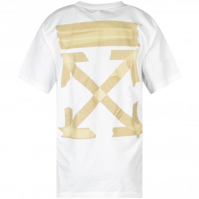 OFF-WHITE White Tape Arrow Print T-Shirt Reverse