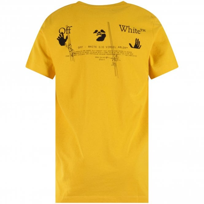 OFF-WHITE Yellow Arrow Workers Slim Fit T-Shirt Reverse