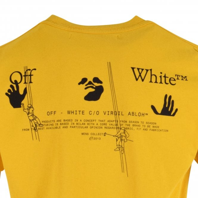 OFF-WHITE Yellow Arrow Workers Slim Fit T-Shirt Close