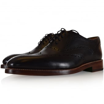 Oliver Sweeney Black Aldeburgh Brogue Shoe