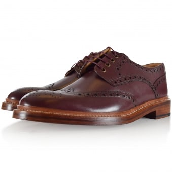 Oliver Sweeney Burgundy Saunders Brogue Shoes