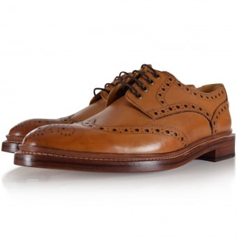 Oliver Sweeney Tan Saunders Brogue Shoes