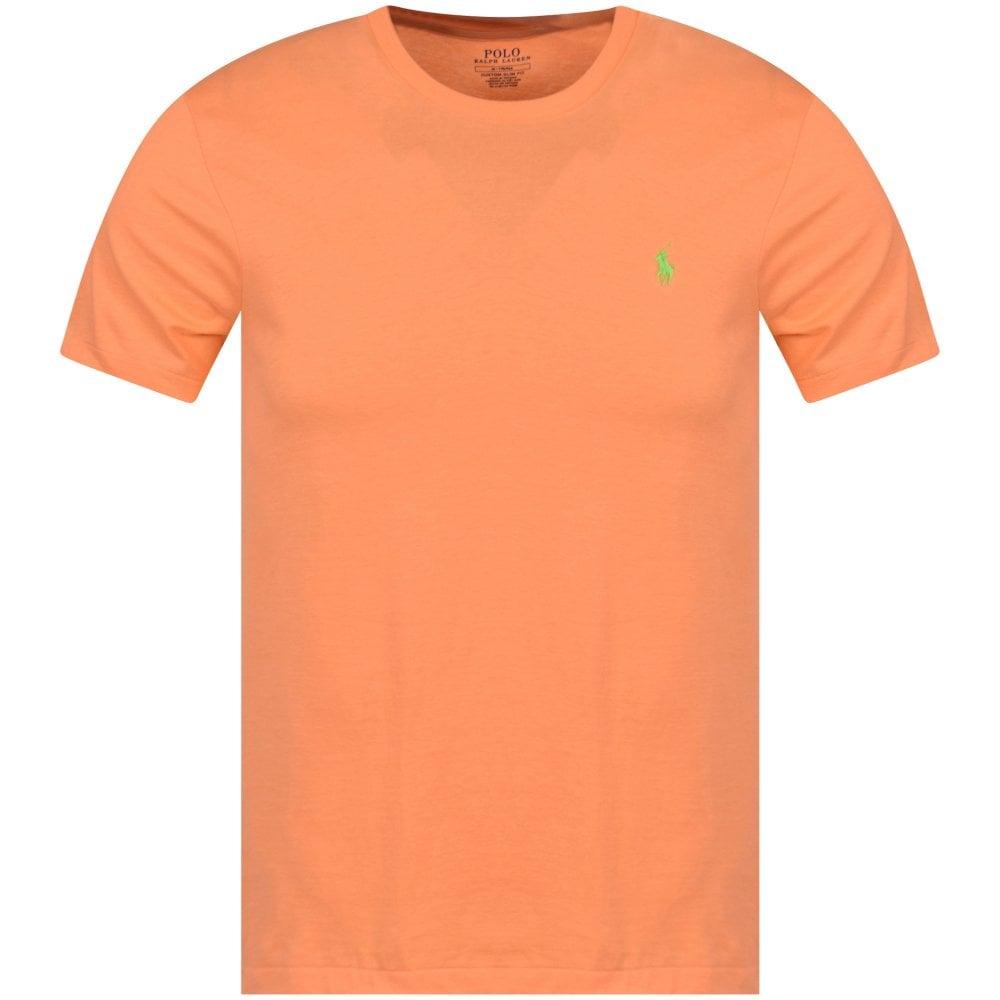 40f1e85d596 POLO RALPH LAUREN Orange Logo Custom Slim Fit T-Shirt - Men from ...