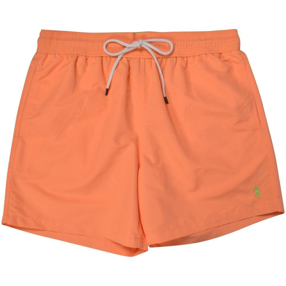 fcc195579 POLO RALPH LAUREN Orange Polo Logo Swim Shorts - Department from ...