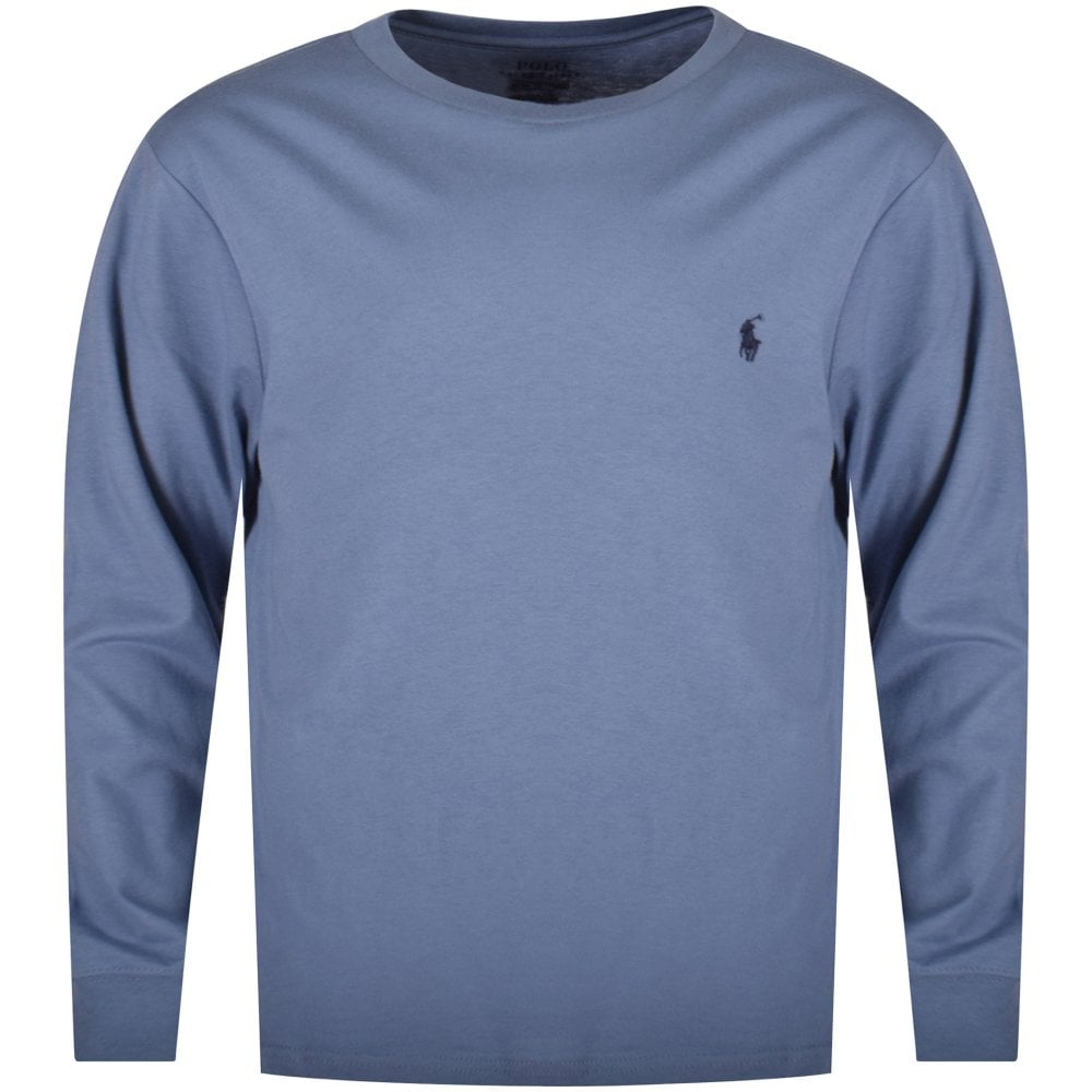 c10a052e7 POLO RALPH LAUREN JUNIOR Pastel Blue Classic Logo Long Sleeve T ...