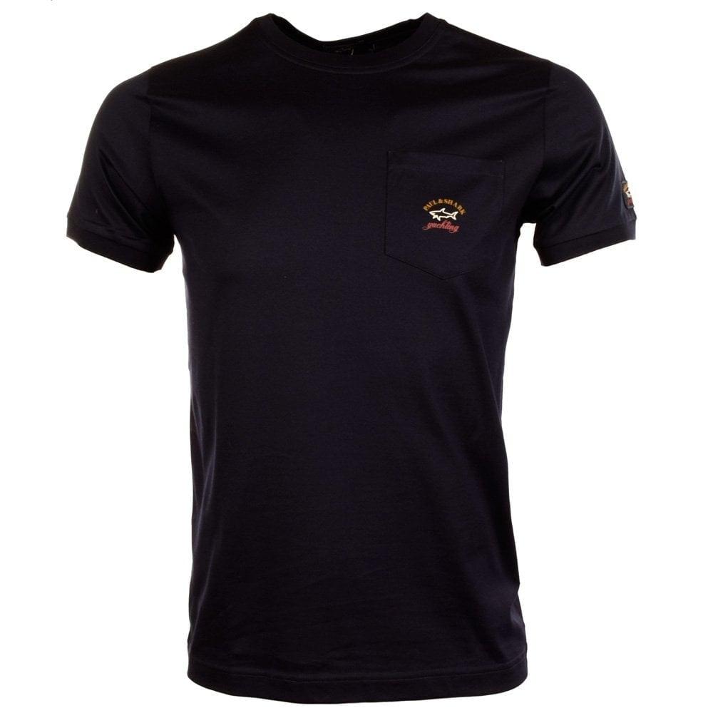 Paul Shark Paul Shark Navy Pocket Logo T Shirt Paul
