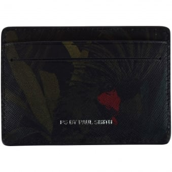 Paul Smith Black Cockatoo Design Card Holder