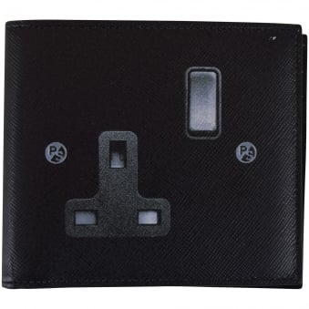 Paul Smith Black 'Plug' Design Wallet