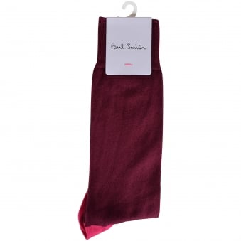 Paul Smith Burgundy Multi Block Socks