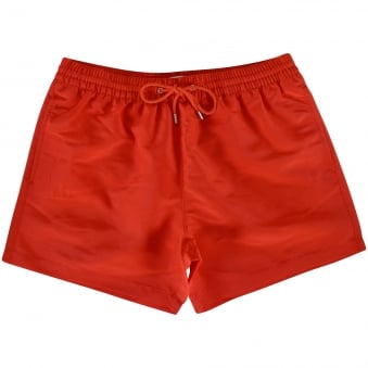 Paul Smith Accessories Red Pocket Logo Swim Shorts