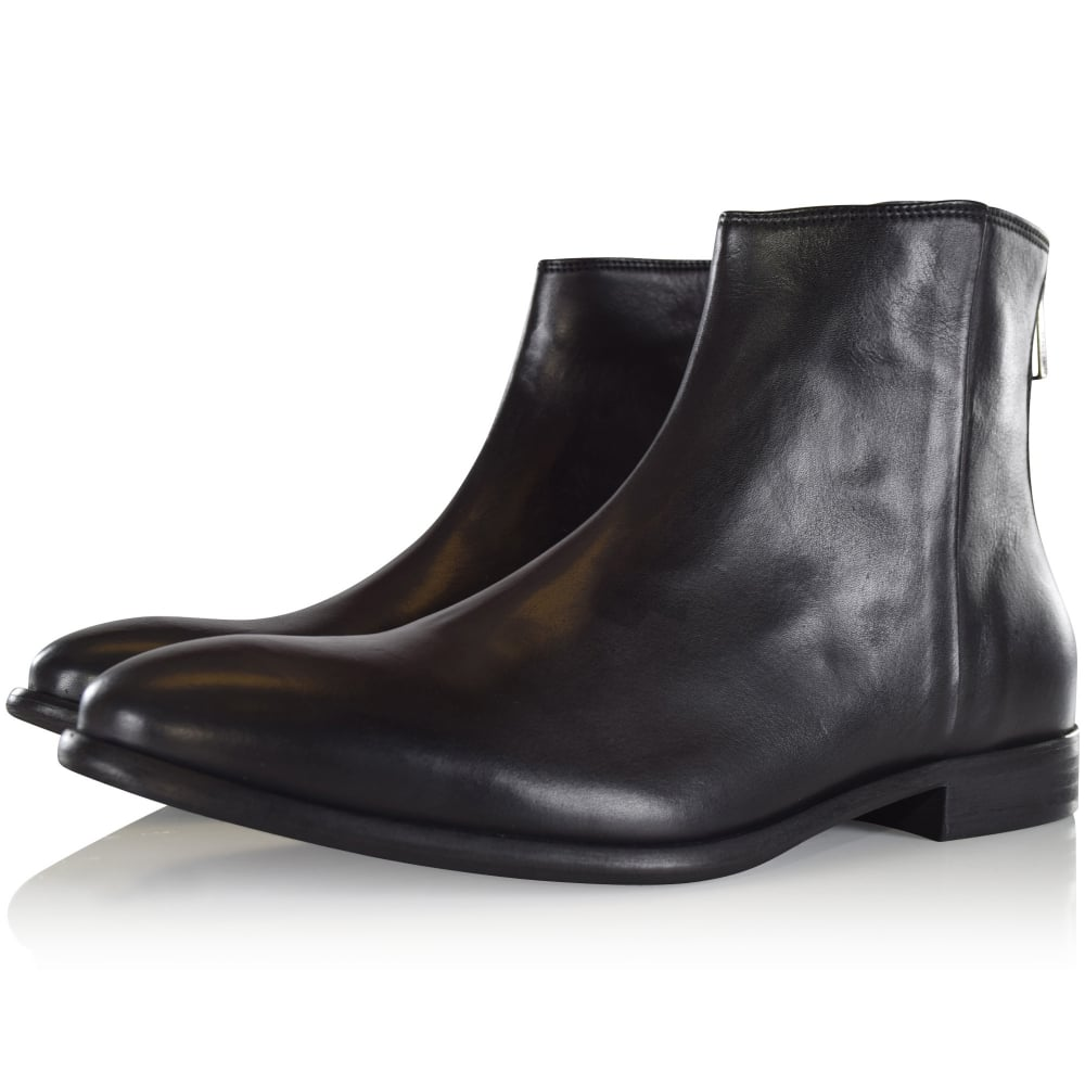 e9991d79321bd PAUL SMITH SHOE Paul Smith Black 'Jean' Leather Boots - Men from ...