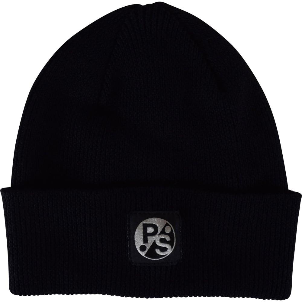 bbf6c06cf38 PS PAUL SMITH Paul Smith Black Logo Beanie Hat - Men from ...