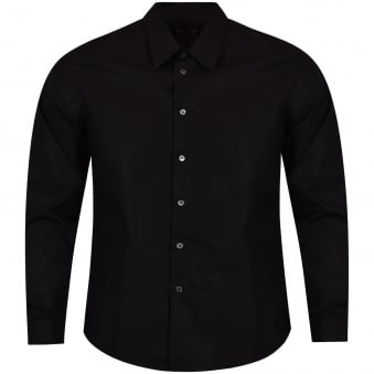 Paul Smith Black Long Sleeved Slim Fit Shirt