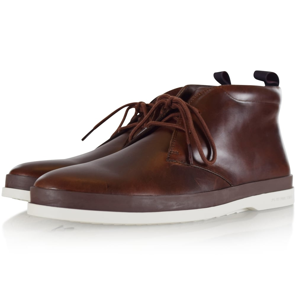 c61e5cc928e0e PAUL SMITH SHOE Paul Smith Brown Leather 'Inkie' Boots - Men from ...