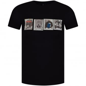 Paul Smith Jeans Black Mascot Logo T-Shirt