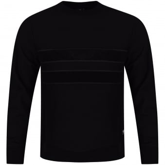 Paul Smith Jeans Black Toweled Stripe Sweatshirt