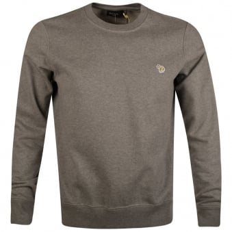 Paul Smith Jeans Grey Marl Crew Neck Sweatshirt