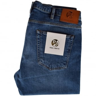 Paul Smith Jeans Mid-light Wash Tapered Fit Jeans
