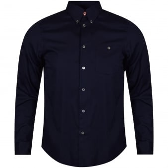 Paul Smith Jeans Navy Button Pocket Shirt