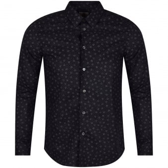 Paul Smith Jeans Navy Micro Print Shirt