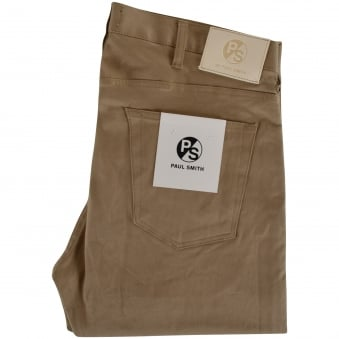Paul Smith Beige Tapered Fit Beige Jeans