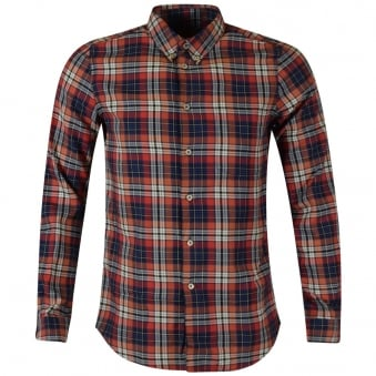 Paul Smith Red Long Sleeved Checked Shirt